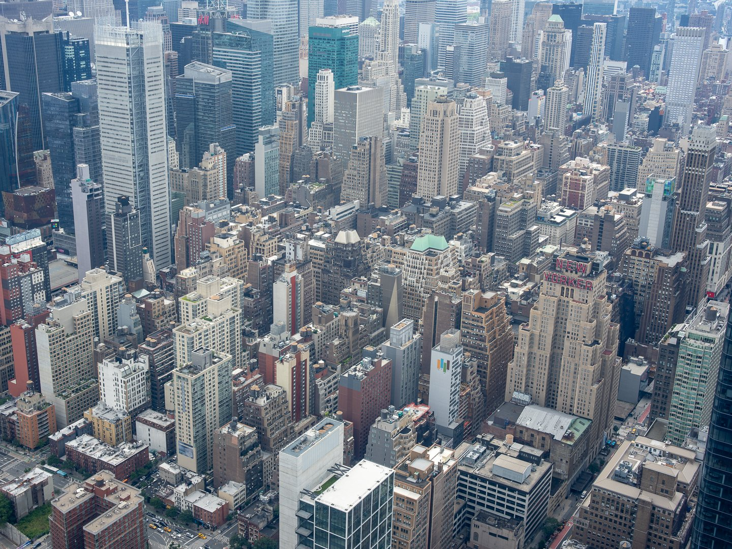 View of New York City skyline from The Edge