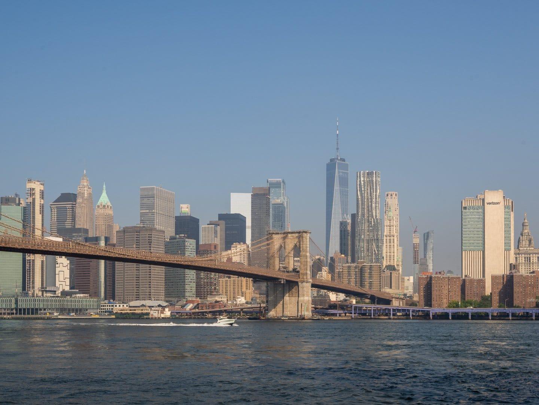 Manhattan skyline seeing from Brooklyn