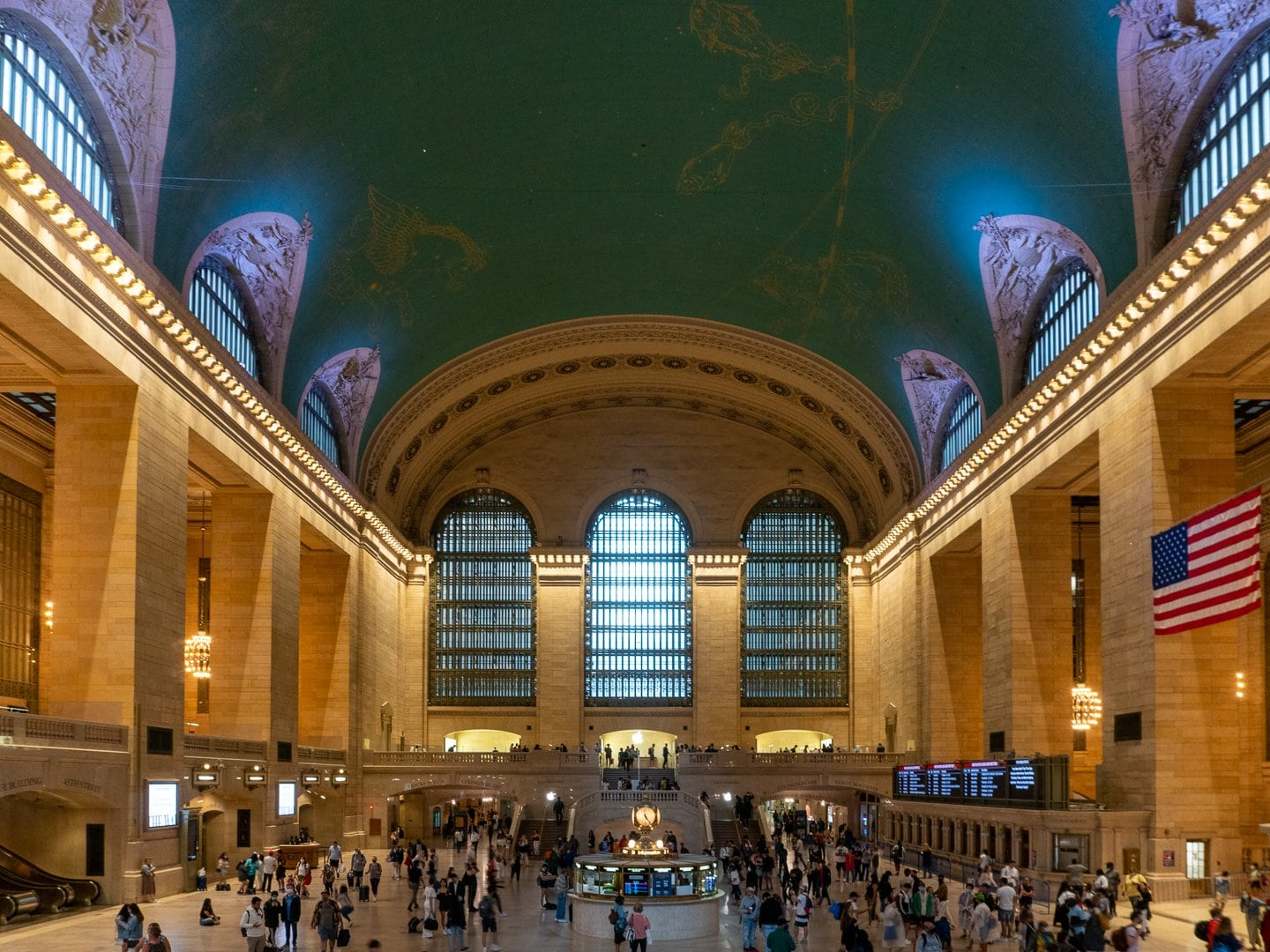 Passengers at Grand Central Terminal New York City