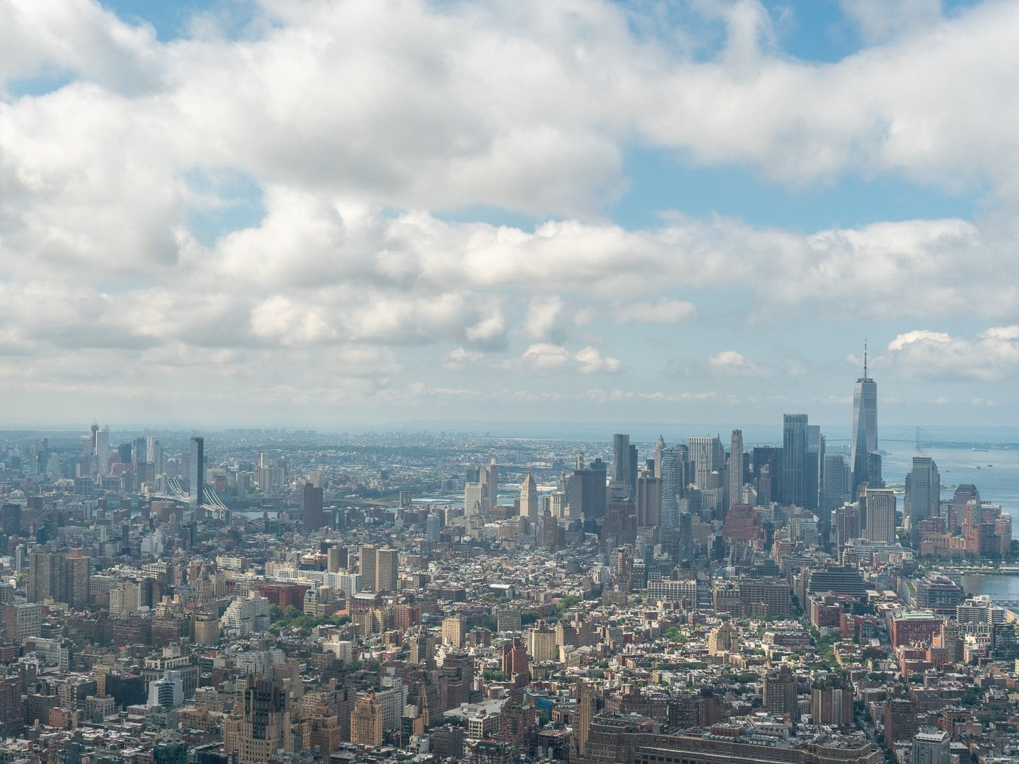 View of Manhattan from The Edge in Hudson Yards
