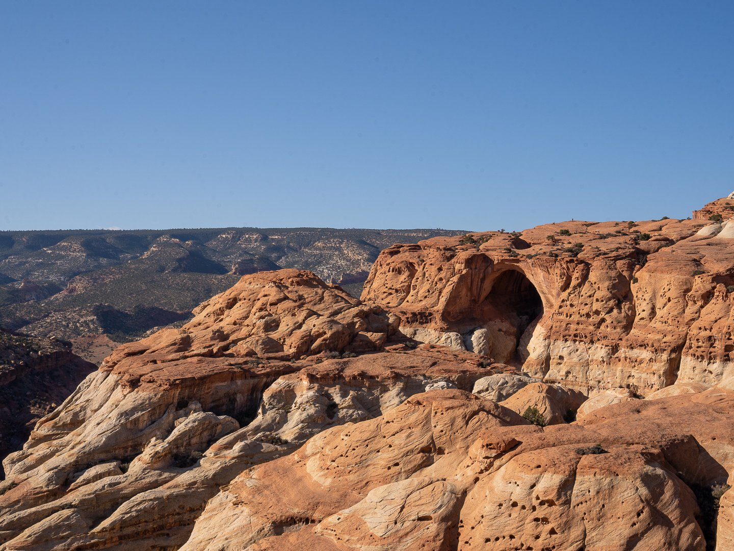 View of Cassidy Arch in Capitol Reef National Park